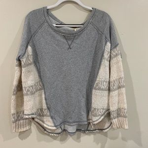 Free People Oversized Knit Pullover Sweater